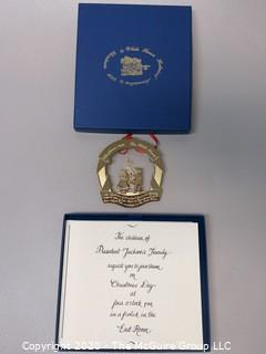 1988 White House Official Holiday Ornament - in box