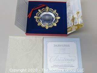 2002 White House Official Holiday Ornament - in box