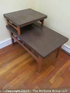 Two shelf MCM side table; 18W x 30D x 20 1/2T