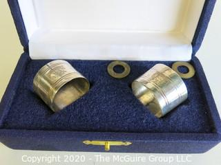 Pair of Silver Plate Napkin Rings in Presentation Box.