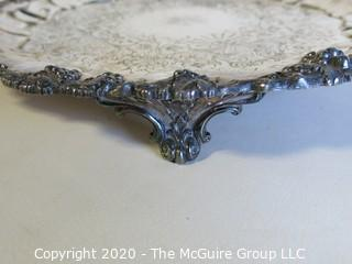 Group of Three Silver Plated Serving Trays