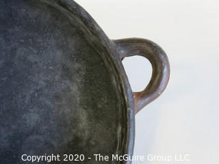 """Hand Made Black Clay Bowl with Double Handles. In the style of Barro Negro Pottery of Oaxaca, Mexico. Measures approximately 6 1/2"""" X 3"""""""