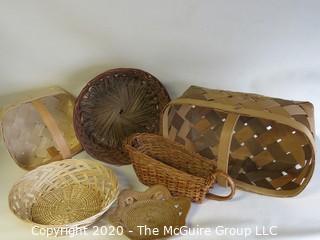 Six Woven Baskets
