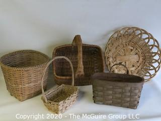 Set of 5 Woven Baskets