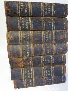 39 Volume Set of Littell's Living Age.  Some cover and spine damage.