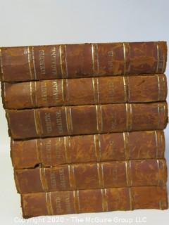 6 Volume Set with Leather Spine  - Eclectic Magazine Published 1872