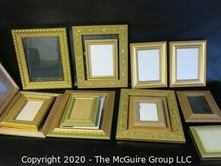 Group of Gold Gilt Frames with Glass.