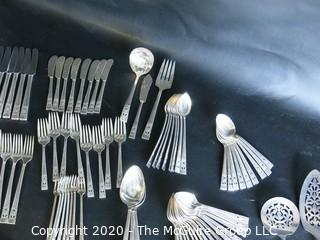 Full Set of Community Plate Silver Plate Flatware.  8 Place Settings and Serving Pieces