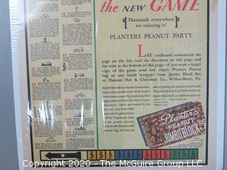 Vintage Planters Peanuts Advertising Poster