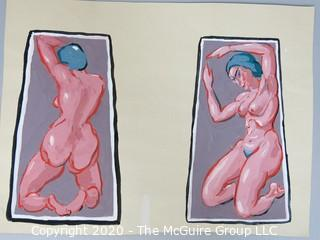 "Print of Female Nudes.  8"" x 11""."