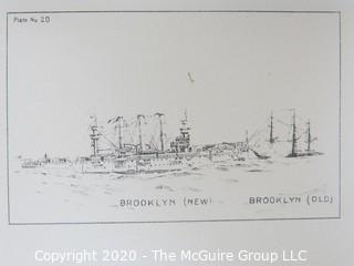 Brooklyn (New) Booklyn (Old), Ships, Plate #20. Black and White print by Fred Cozzens.