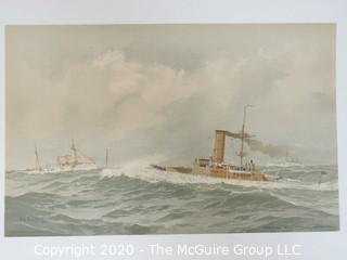 Detroit Monterey Oregon, Ships, Color Print by Fred Cozzens