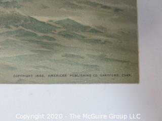 Machias, Massachusetts, Castine, Ships, Color Print #8 by Fred Cozzens