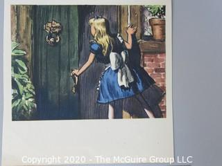 Group of Color Book Pages from Children's Literature.  Includes Alice and Wonderland, Emperors New Cloths, Through the Picture Frame and Walt Disney.