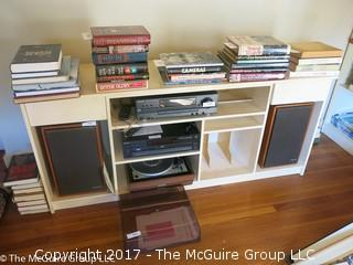 Wooden bookshelf (does not include contents); 65W x 18D x 28 1/2T