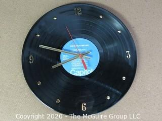Authentic Beatles Record Re-purposed as a Wall Clock. Battery Run.