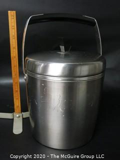 """Mid Century Modern MCM West Bend Ice Bucket.  Measures approximately 8"""" tall excluding handle."""