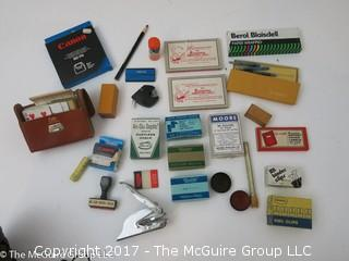 Collection of Vintage Office Supplies