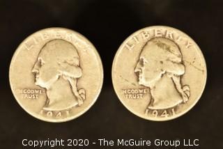 U.S. Collectible Coins: 1941 Washington Quarter & 1941 Washington Quarter