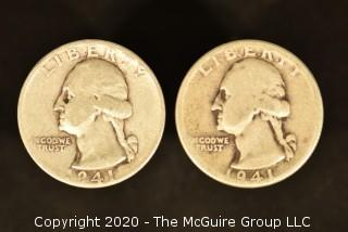 U.S. Collectible Coins: 1941-S Washington Quarter & 1941 Washington Quarter