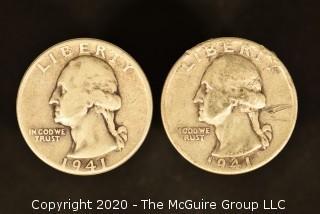 U.S. Collectible Coins: 1941 Washington Quarter & 1941-D Washington Quarter