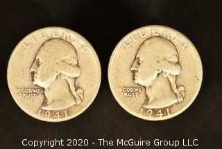 U.S. Collectible Coins: 1941 Washington Quarter & 1941 Washington Quarter