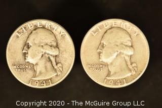 U.S. Collectible Coins: 1941 Washington Quarter & 141 Washington Quarter