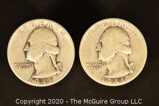 U.S. Collectible Coins: 1941 Washington Quarter & 1941-S Washington Quarter