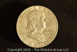 U.S. Collectible Coins: 1963-D Franklin Half Dollar