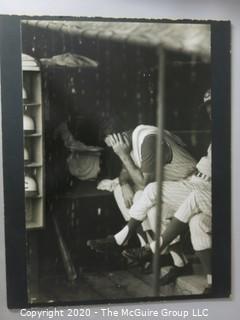 "Photo, Print, B&W, Historical, Americana, Baseball. Measures approximately 16"" X 20"" on Photo Board."