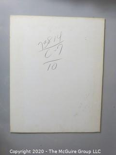 "Photo, Print, B&W, Historical, Americana, Baseball. Approximately 16"" X 20"" on Photo Board."