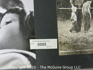 "Black & White Photo Collage, Big Edward Partin. Measures approximately 16"" X 20"" on Photo Board."