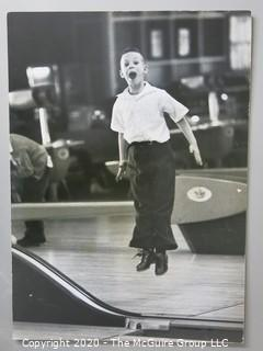 """Photo, Positive, B&W, Historical, Americana, Bowling. Approximately 16"""" X 20"""" on Photo Board. Mounted on board (NOT A DUPLICATE)"""