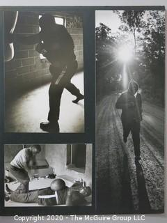 """Black and White Photo Collage of Boxer Buster Mathis. Measures approximately 16"""" X 20"""" on Photo Board."""