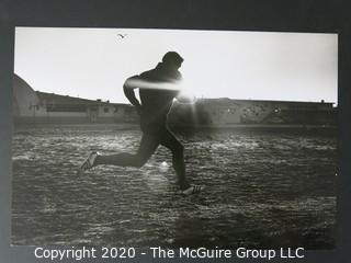 """Photo, Print, B&W, Historical, Americana, Runner. Measures approximately 16"""" X 20"""" on Photo Board."""