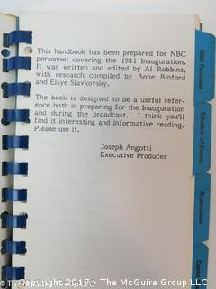 NBC News Vest Pocket handbook of 1981 Inaugural Week Festivities
