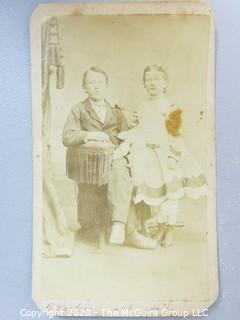 Cartes-de-Visite CDV Antique Cabinet Photo Card - Photographed by J. S. Young, Washington PA