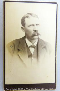 Cartes-de-Visite CDV Antique Cabinet Photo Card - Gentleman -  Photographer Short Rondout, NY