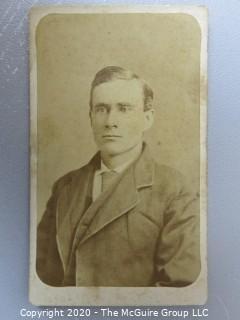 Cartes-de-Visite CDV Antique Cabinet Photo Card - Man -  Photographer A.H. Plecker Lynchburg, VA