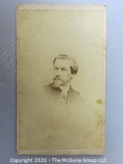 Cartes-de-Visite CDV Antique Cabinet Photo Card - Gentleman -  Photographer Julius Brill, Chatham Square, New York
