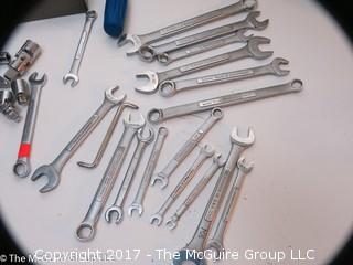 Tools including socket sets and open ended wrenches