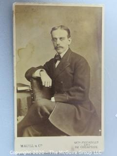 Cartes-de-Visite CDV Antique Cabinet Photo Card - Man, Identified as Uncle Fred Chaney - Photographer Maull & Co London