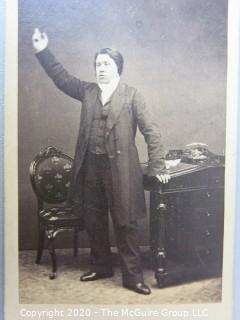 Cartes-de-Visite CDV Antique Cabinet Photo Card - Man, Identified as T Jergen - Photographer Stereoscopic Comp, London