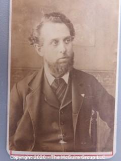 Cartes-de-Visite CDV Antique Cabinet Photo Card - Man, Dated March 1882 - Photographer Thomas Draper, Nottingham