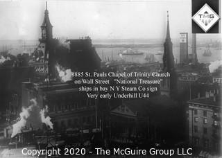"8 x 10"" Film Negative; Irving Underhill; Trinity Church New York City (0001A)"