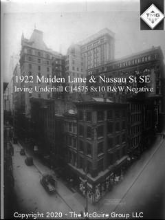 "8 x 10"" Film Negative; Irving Underhill; Maiden Lane New York City (0013A)"