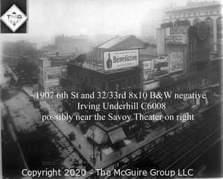 "8 x 10"" Film Negative; Irving Underhill; 6th St.  New York City (0020A)"