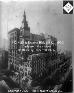 "8 x 10"" Film Negative; Irving Underhill; Mail & Express Bldg New York City (0026A)"