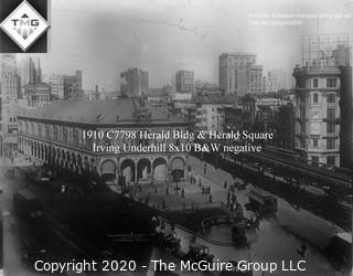 "8 x 10"" Film Negative; Irving Underhill; Herald Square New York City (0035A)"