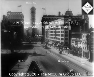 "8 x 10"" Film Negative; Irving Underhill; Broadway & 5th New York City (0040A)"